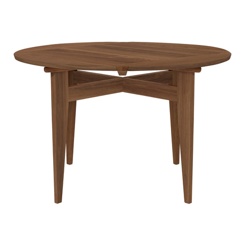 Expandable dining table B-Table, 85x85 / Ø116, walnut - Nordic Design Home