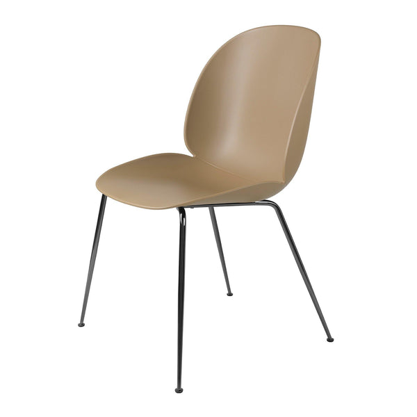 Beetle dining chair, different colors and metal leg finishes