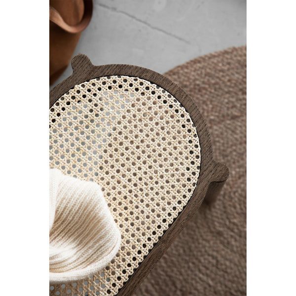 Pink Pal, French rattan wicker / various wood finishes