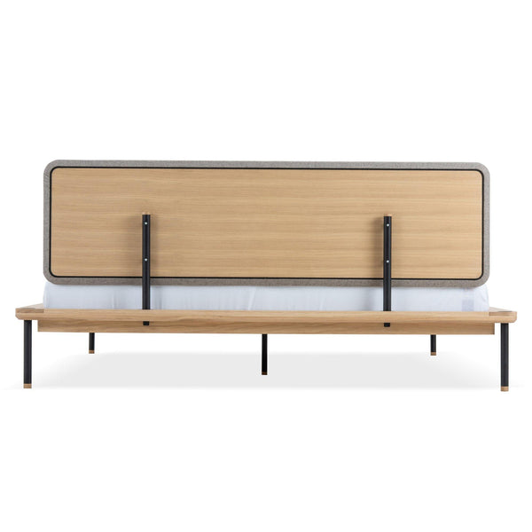 Bed Fina, different sizes, upholstery and finishes - Nordic Design Home