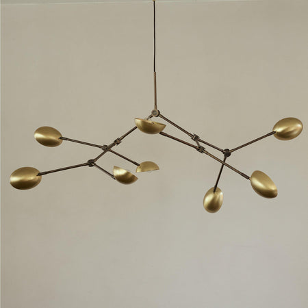 Chandelier Drop, 155cm, brass