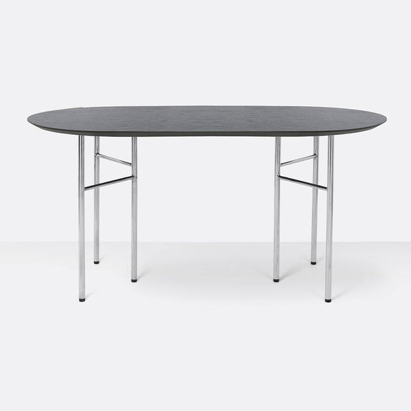 Dining table / desk Mingle with metal legs, oval 150x75cm, different finishes - Nordic Design Home