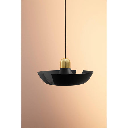 Ceiling lamp Cycnus, large Ø45cm, black / brass
