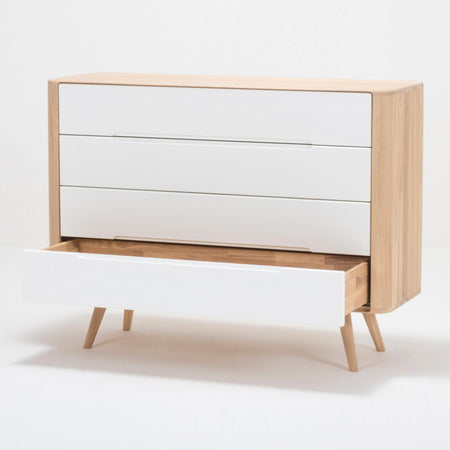 Chest of drawers Ena, with four drawers, 120cm