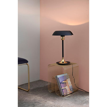 Table lamp Cycnus, black / brass