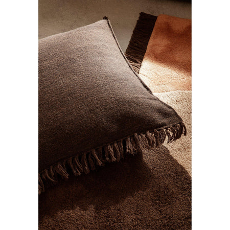 Decorative / floor cushion Kelim Melange 80x80cm, dark brown