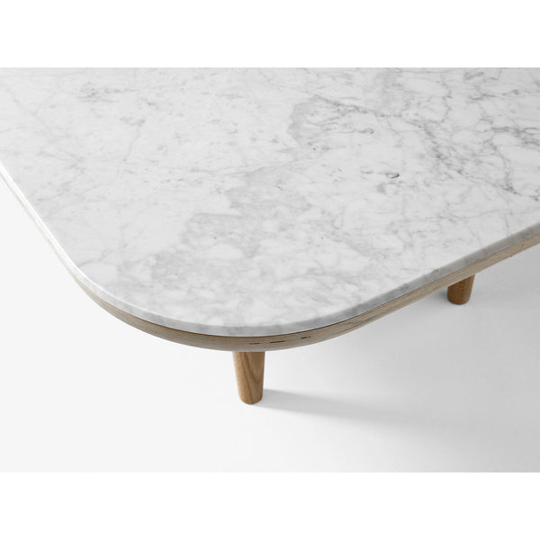 Coffee table Fly SC4, various marble and wood finishes