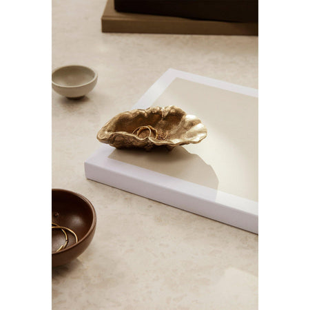 Decorative bowl Oyster, brass - Nordic Design Home