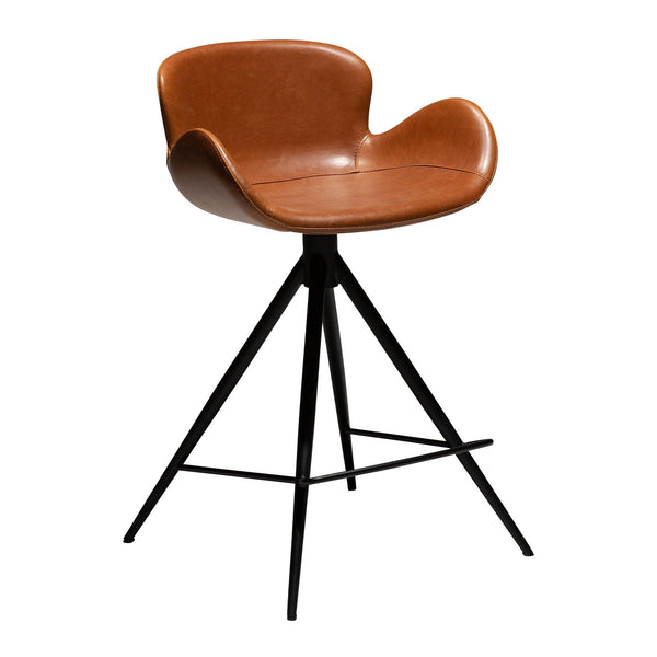 Gaia bar stool, leather cover, different heights and colors - Nordic Design Home