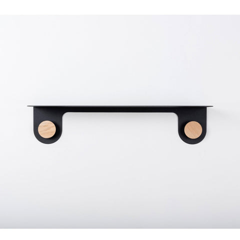 Shelf with racks Hook, black, small (width 50cm)
