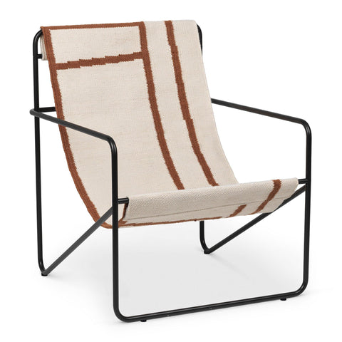 Armchair Desert, black frame / different colors