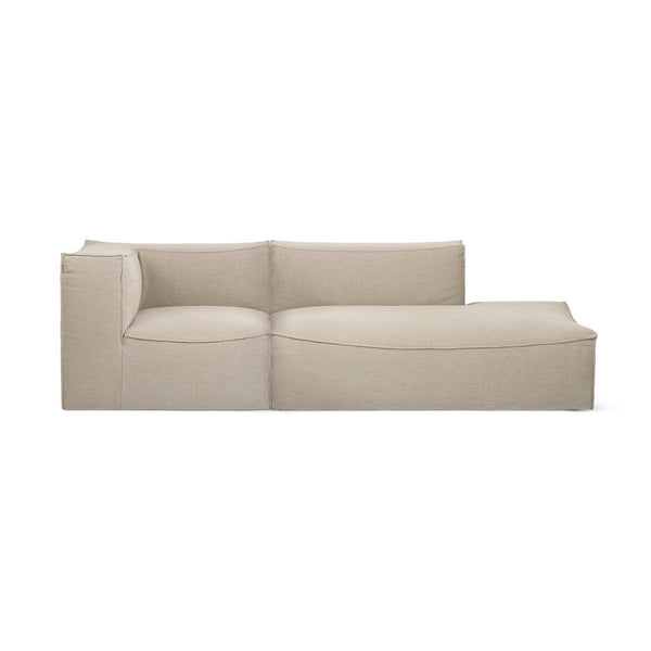 Sofa Catena, left or right, 270 / 303cm, different sizes and fabrics - Nordic Design Home