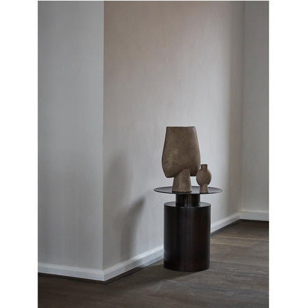 Side table Pillar, high 50cm, burnt black