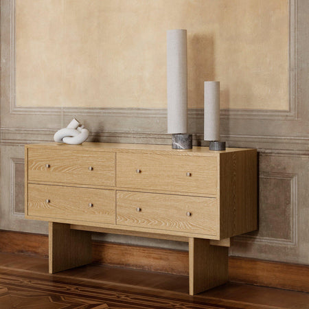 Chest of drawers Private, 160x45x90cm, light stained oak - Nordic Design Home