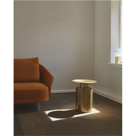 Side table Pillar, high 50cm, brass