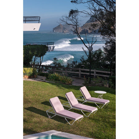 Lounge chair Barceloneta, with cushion, stackable, different colors, 2pcs
