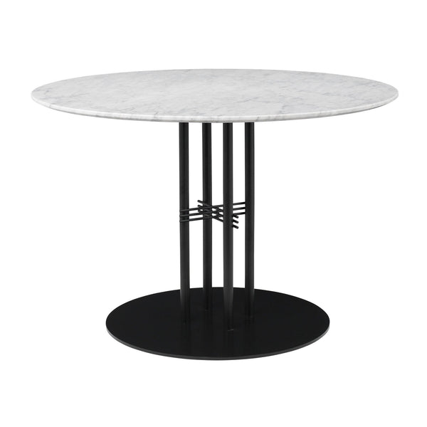Dining table TS Column, different table leg and surface finishes, Ø110cm