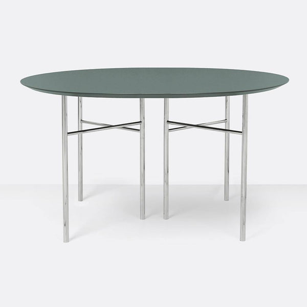 Dining table Mingle with metal legs, round Ø130cm, different finishes - Nordic Design Home