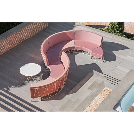 Outdoor sofa Lagarto, curved module, different heights and colors - Nordic Design Home