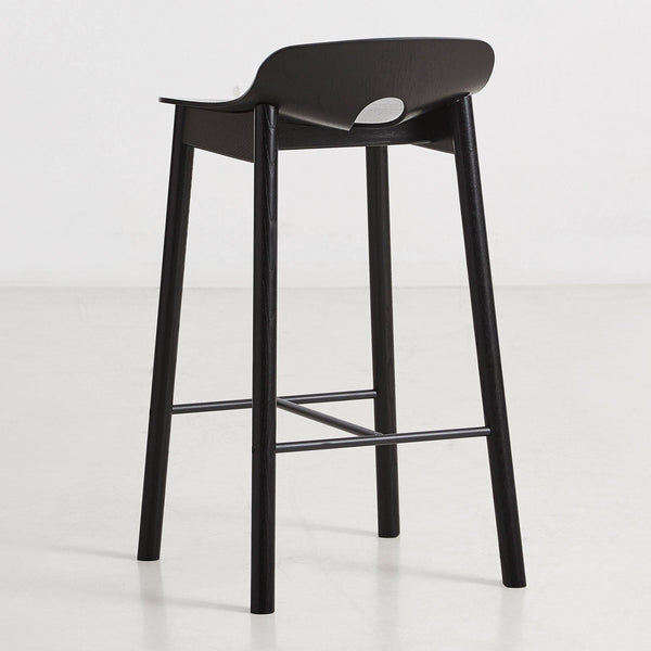Bar stool Mono, black painted oak, different heights