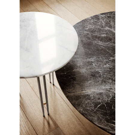 Sofa / side table IOI, various marble surfaces and leg finishes, Ø50cm
