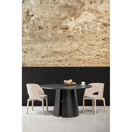 Dining table Cep Ø137cm, black