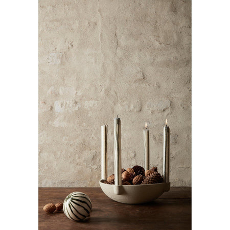 Candles Duo, double set, gray