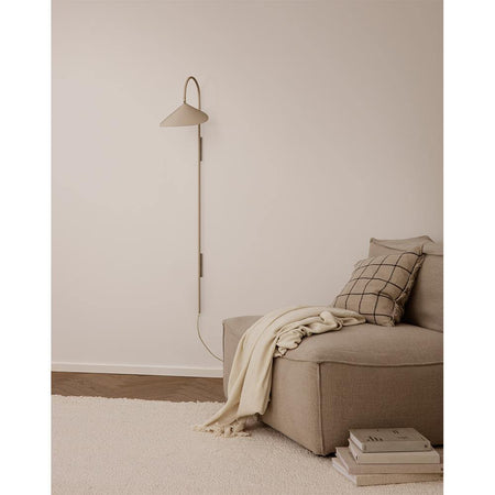 Wall lamp Arum long, cream-beige