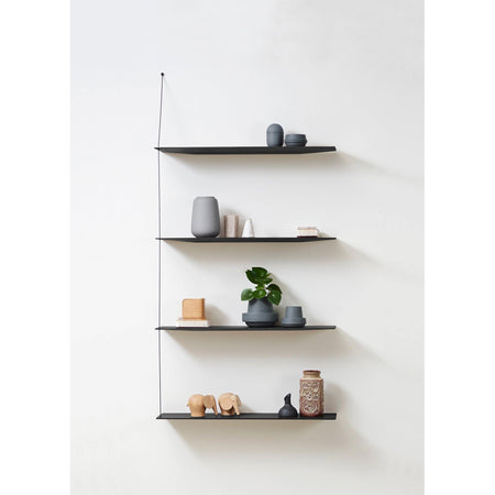 Wall shelf Stedge large 80, black