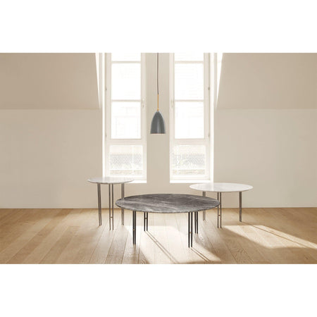 Coffee table IOI, various marble surfaces and leg finishes, Ø100cm