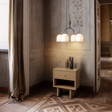 Bedside table / side table Private, 50x40x60cm, light stained oak - Nordic Design Home