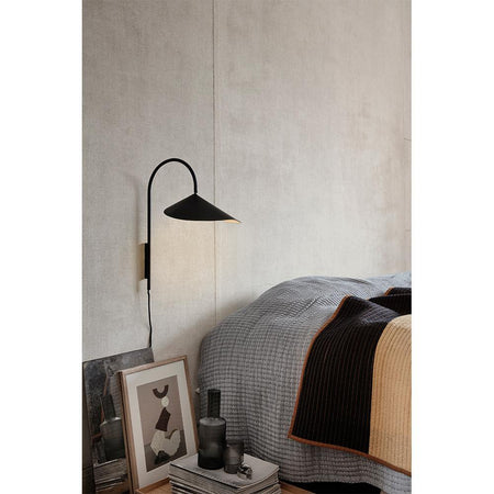 Wall lamp Arum, low, black