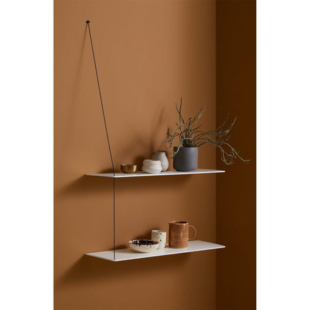 Wall shelf Stedge small 60cm, white