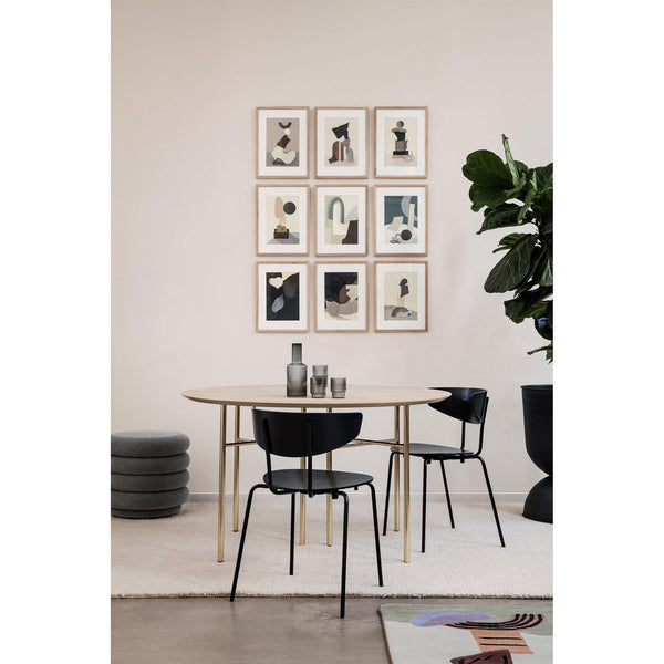 Dining chair Herman, metal frame / wooden seat, different colors - Nordic Design Home