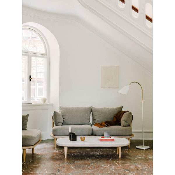 Coffee table Fly SC5, different marble and wood finishes - Nordic Design Home