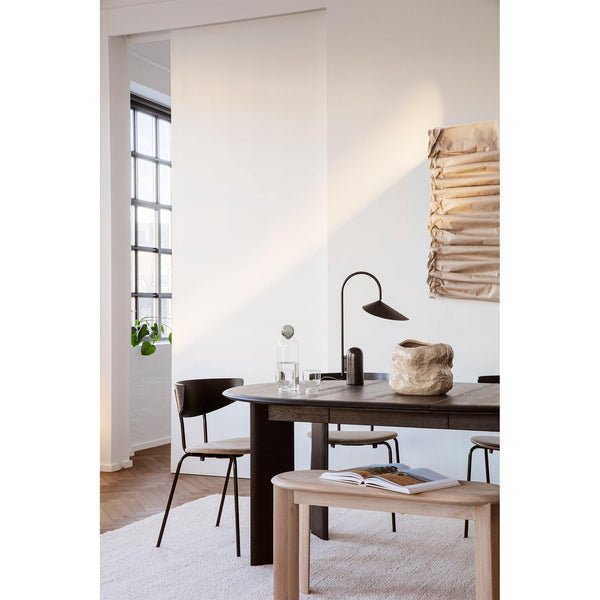 Dining chair Herman black frame, textile, different shades - Nordic Design Home