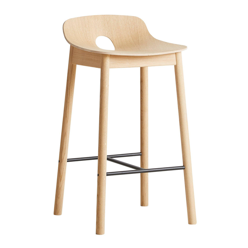 Bar stool Mono, white oiled oak, different heights - Nordic Design Home