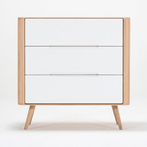 Chest of drawers Ena, with three drawers, 90cm