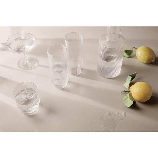 Glass Ripple mini, untinted glass, set of four - Nordic Design Home