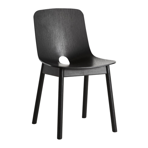 Chair Mono, black painted oak