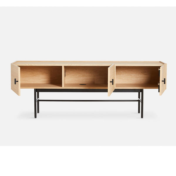 TV weight / Cabinet Array 150cm on legs, white tinted oak - Nordic Design Home
