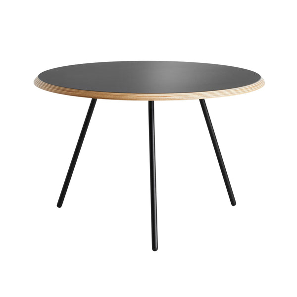 Soround Coffee table Ø60cm, black nano laminate coating, different heights