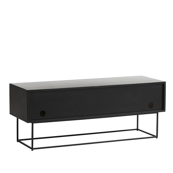 Chest of drawers / TV scale Virka, black oak WOUD Mööbel - Nordic Design Home