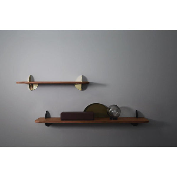 Wall shelf Aedes walnut and black, different sizes