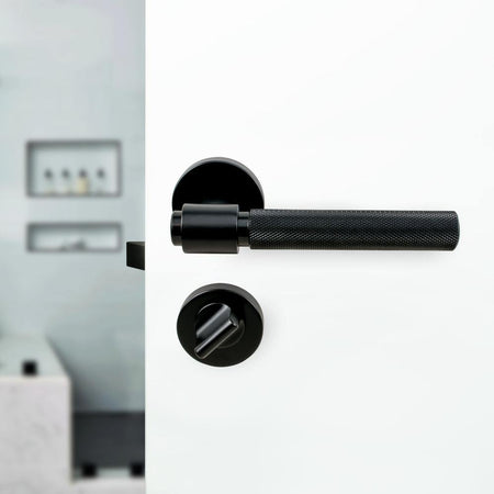 Door lock Round, black