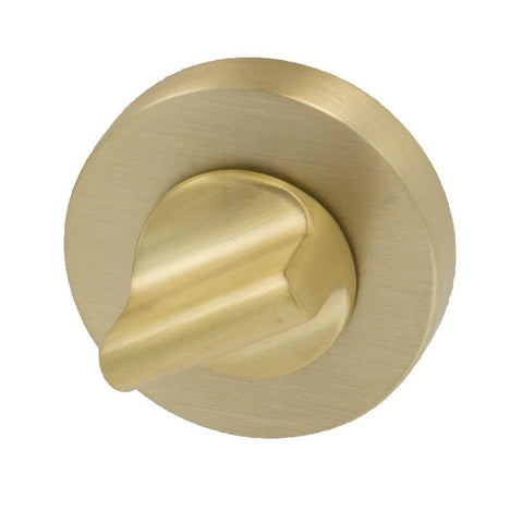 Door lock Round, brushed brass