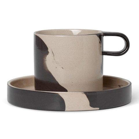 Set - cup and plate Inlay - Nordic Design Home