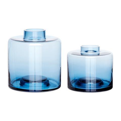 Vases Wave blue 2pcs, sample product -70%