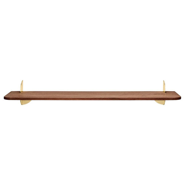 Wall shelf Aedes walnut and golden, different sizes