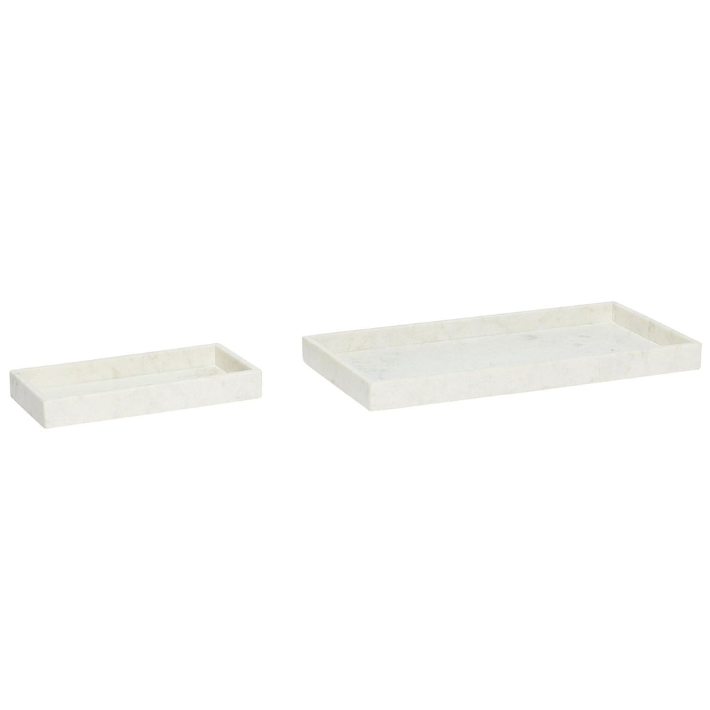 Trays Beck, white marble, 30x15cm / 50x25cm -30% - Nordic Design Home